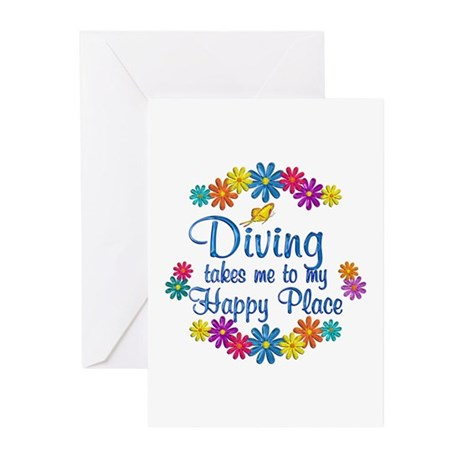 Diving Happy Place Greeting Cards (Pk of 20)