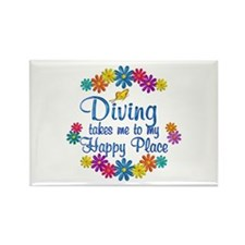 Diving Happy Place Rectangle Magnet