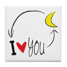 I love you to the moon and back Tile Coaster