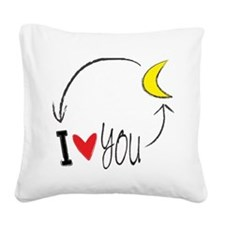 I love you to the moon and back Square Canvas Pill