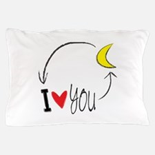 I love you to the moon and back Pillow Case