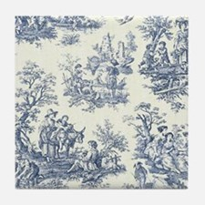 Blue & White Toile Tile Coaster