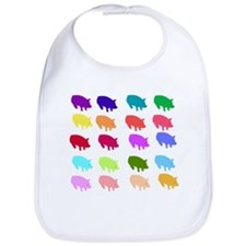Rainbow Pigs Bib