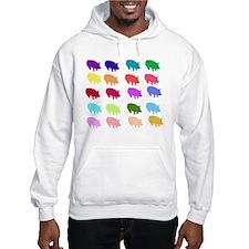 Rainbow Pigs Hoodie