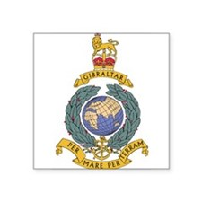 "Cute Royal marines Square Sticker 3"" x 3"""