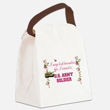 I Raised A Soldier Canvas Lunch Bag