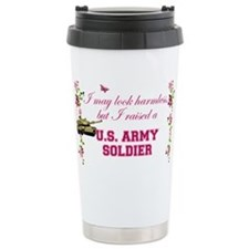 I Raised A Soldier Travel Mug