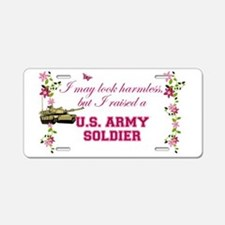 I Raised A Soldier Aluminum License Plate