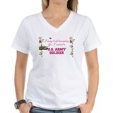 Army mom Womens V-Neck T-shirts