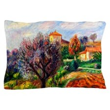 Glackens - Hillside with Olive Trees Pillow Case