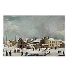 Winter Scene in Brooklyn Postcards (Package of 8)