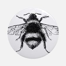 Vintage Honey Bee Ornament (Round)