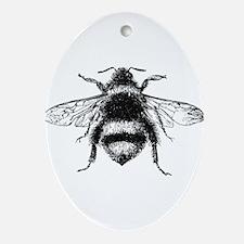Vintage Honey Bee Ornament (Oval)