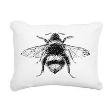 Vintage Honey Bee Rectangular Canvas Pillow