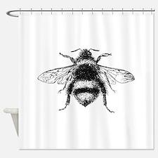 Vintage Honey Bee Shower Curtain