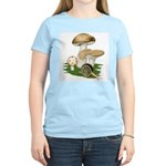 Snail in Mushroom Garden Women's Light T-Shirt