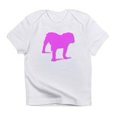 Pink Bulldog Silhouette Infant T-Shirt