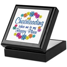 Cheerleading Happy Place Keepsake Box