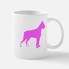 Pink Boxer Silhouette Mugs