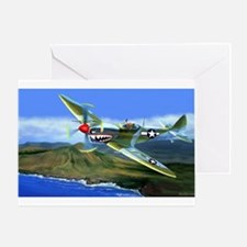 SPITFIRE OVER HAWAII Greeting Cards