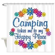 Camping Happy Place Shower Curtain