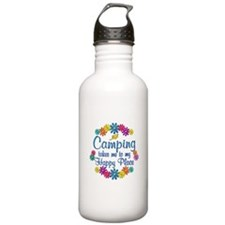 Camping Happy Place Water Bottle