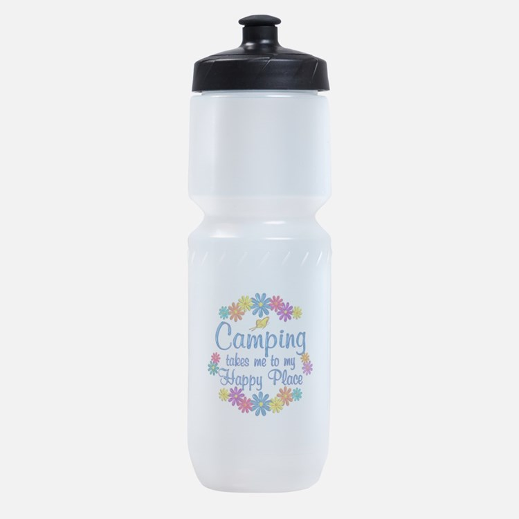 Camping Happy Place Sports Bottle