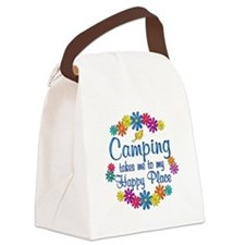 Camping Happy Place Canvas Lunch Bag