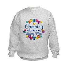 Camping Happy Place Sweatshirt
