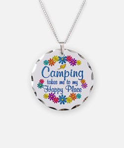 Camping Happy Place Necklace