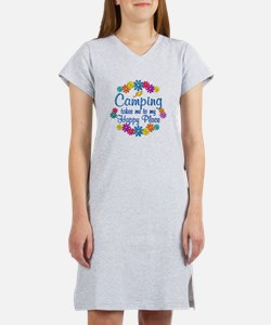 Camping Happy Place Women's Nightshirt