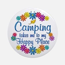 Camping Happy Place Ornament (Round)