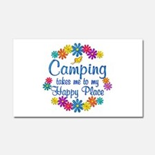 Camping Happy Place Car Magnet 20 x 12