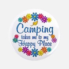"Camping Happy Place 3.5"" Button"