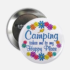 "Camping Happy Place 2.25"" Button"