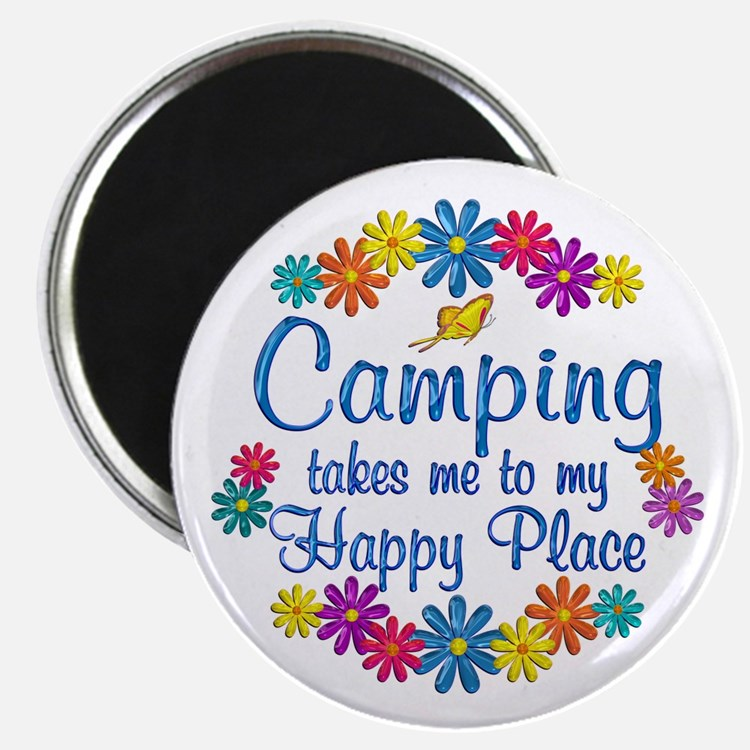 Camping Happy Place Magnet