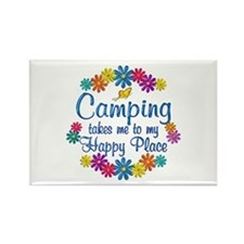 Camping Happy Place Rectangle Magnet