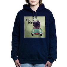 Cairn Terrier Road Trip Women's Hooded Sweatshirt