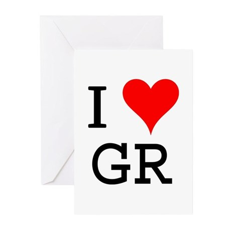 I Love GR Greeting Cards (Pk of 10)