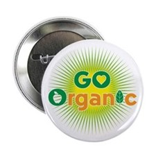 "Go Organic 2.25"" Button"