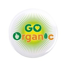 "Go Organic 3.5"" Button"