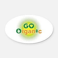 Go Organic Oval Car Magnet