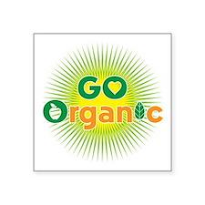 """Go Organic Square Sticker 3"""" x 3"""""""