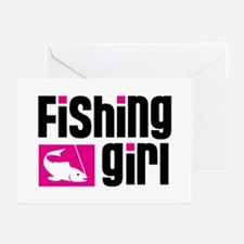 Fishing Girl Greeting Cards (Pk of 10)