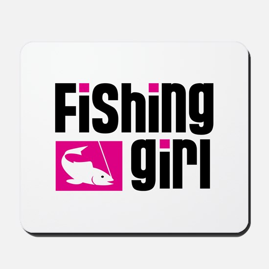 Fishing Girl Mousepad