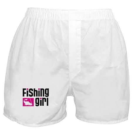Fishing Girl Boxer Shorts