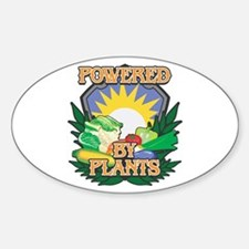 Powered by Plants Sticker (Oval)