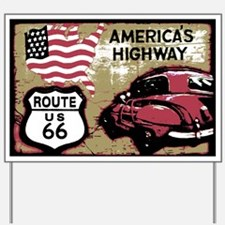 Route US 66 Yard Sign