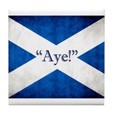 Aye, Scotland! Tile Coaster
