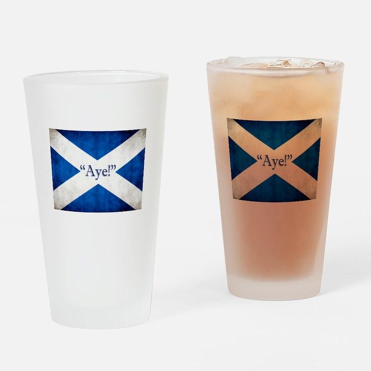 Aye, Scotland! Drinking Glass